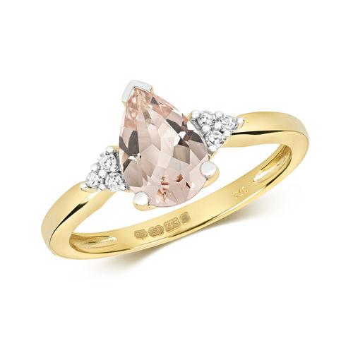 Morganite & Diamond Ring