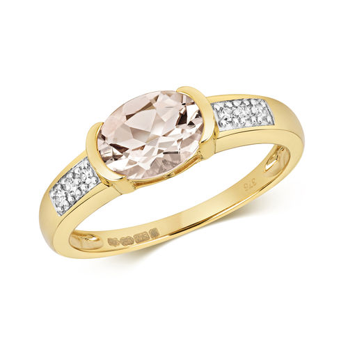 Diamond & Morganite Ring