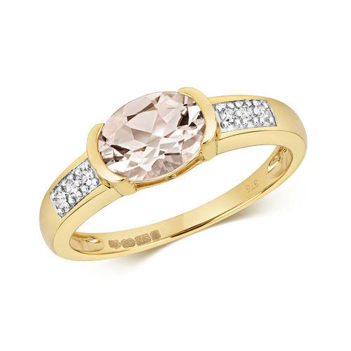 Diamond & Morganite Ring