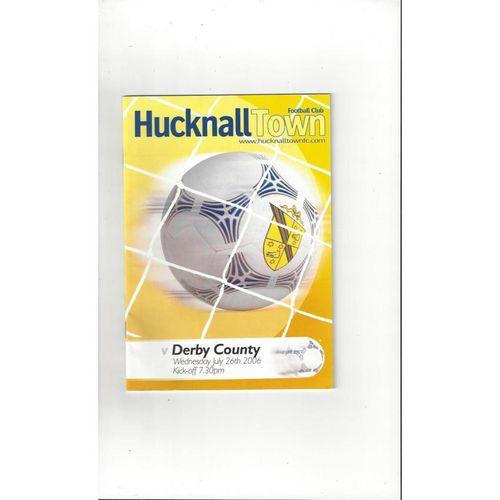 Hucknall Town v Derby County Friendly Programme 2006/07