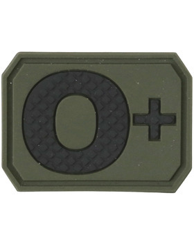 Tactical Blood Type O Positive POS Hook and Loop Patch Embroidered Morale Military Badge for Outdoors Coyote Brown O+