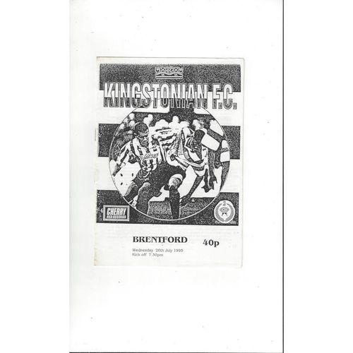 Kingstonian v Brentford Friendly Football Programme 1995/96