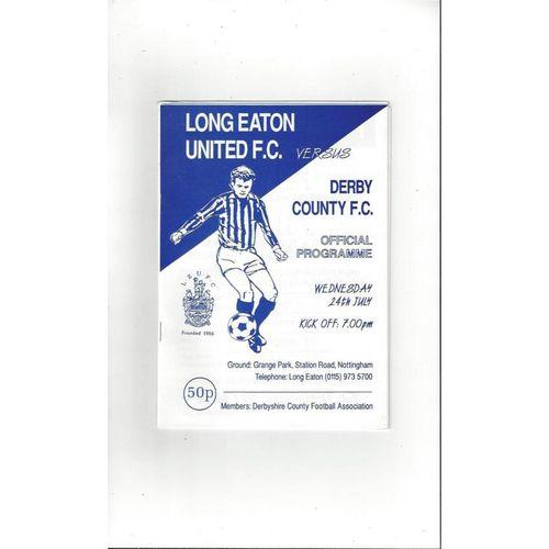 Long Eaton v Derby County Friendly Football Programme 1996/97