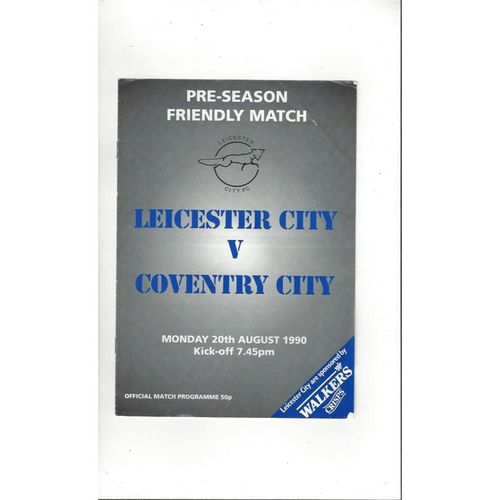 Leicester City v Coventry City Friendly Football Programme 1990/91