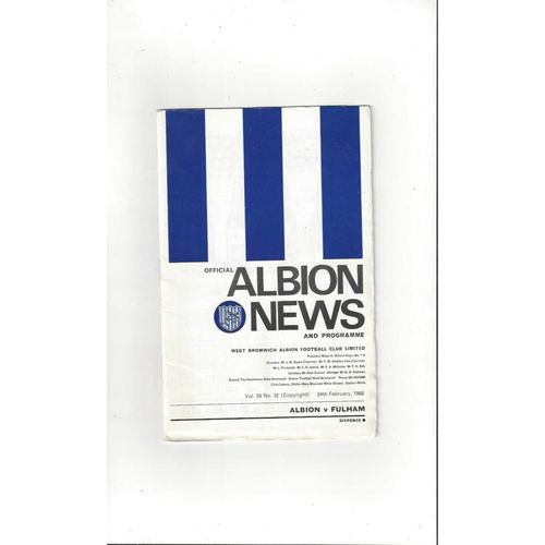 Fulham Away Football Programmes