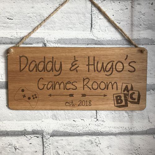 BESPOKE order oak door plaque