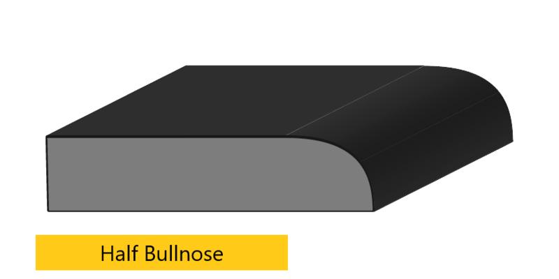 half bullnose edge profile
