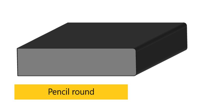 pencil round edge profile