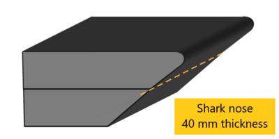 shark nose edge profile 40 mm