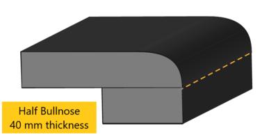 half bullnose edge profile 40 mm