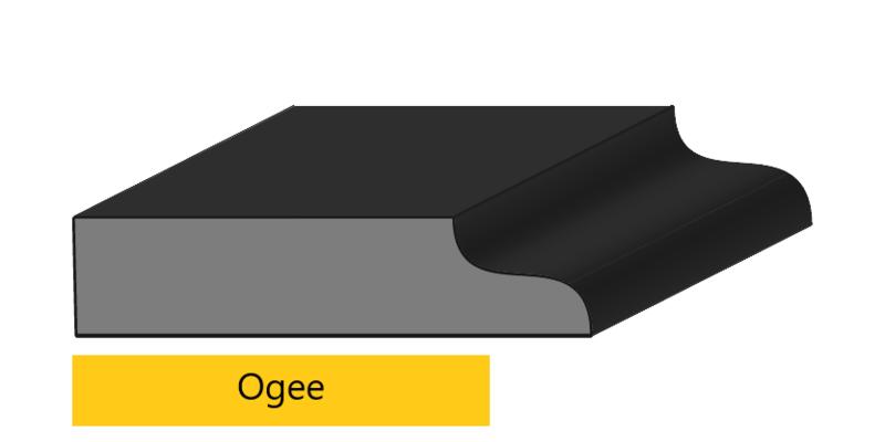 Ogee edge profile
