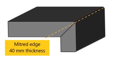 Mitred edge profile