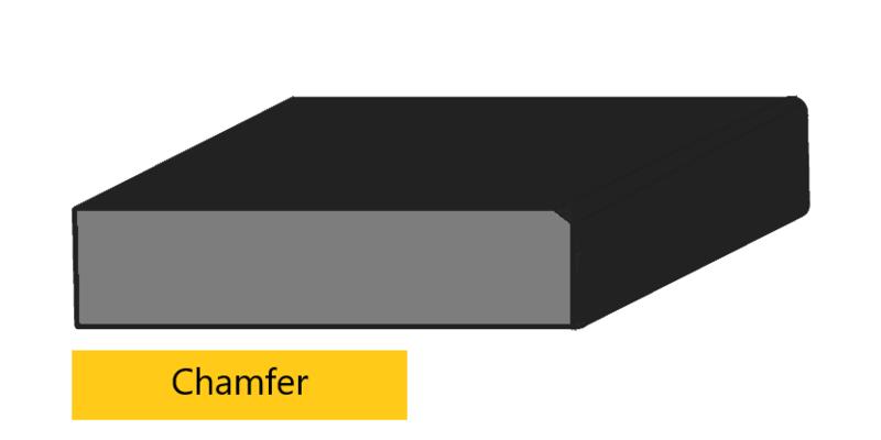 chamfer edge profile