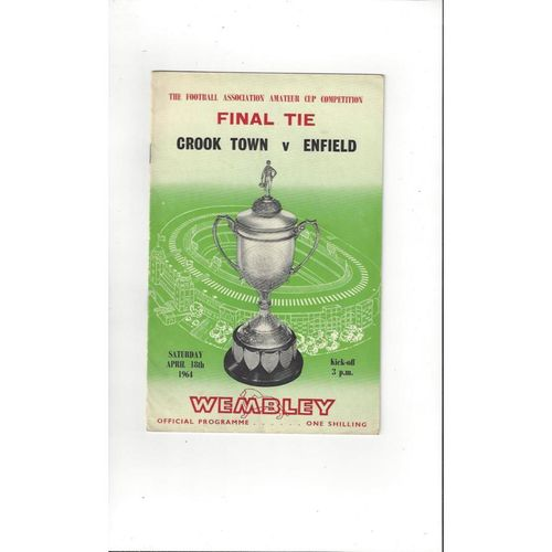 1964 Crook Town v Enfield FA Amateur Cup Final Football Programme