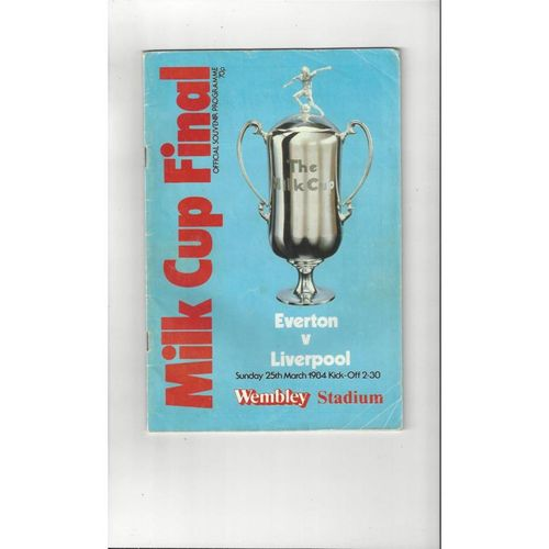 1984 Everton v Liverpool League Cup Final Football Programme