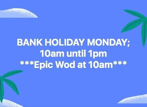 Weekly Bulletin / Programming- Bank Holiday