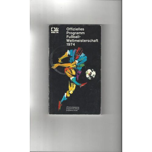 1974 World Cup Official Football Tournament brochure 144 pages