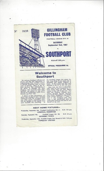 Latest Updates from Bob's Football Programmes