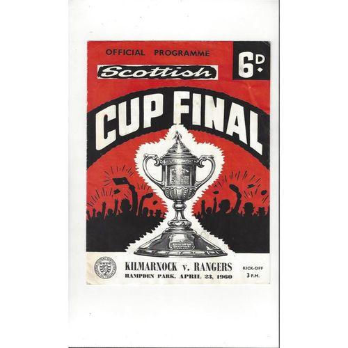 1960 Kilmarnock v Rangers Scottish Cup Final Football Programme