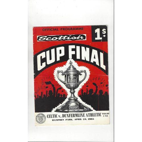 1965 Celtic v Dunfermline Athletic Scottish Cup Final Football Programme