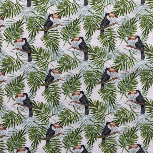 Toucan Foliage Cotton