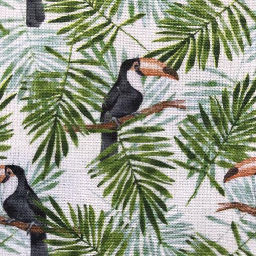 Toucan Foliage Cotton