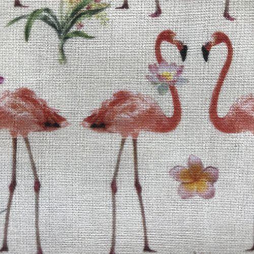 Flamingo Flowers Cotton