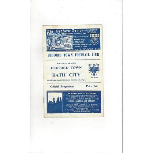 1967/68 Bedford Town v Bath City Football Programme