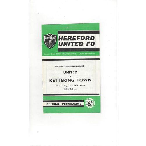 1969/70 Hereford United v Kettering Football Programme
