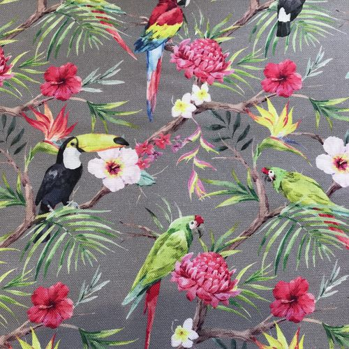 Tropical Birds Cotton Canvas