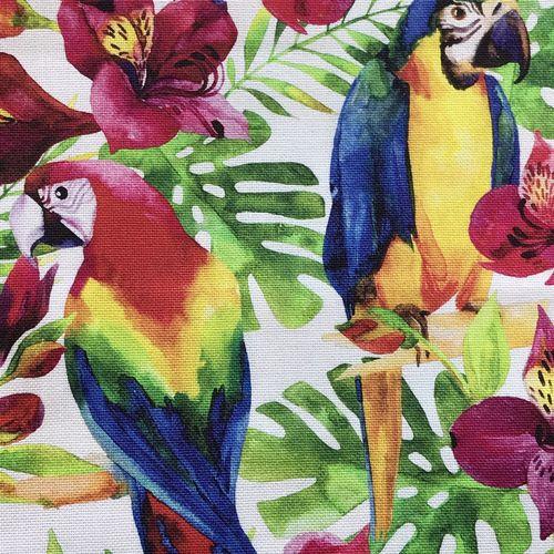 Parrot Paradise Cotton Canvas 1.1m Remnant