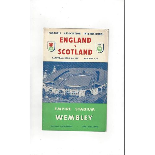 1957 England v Scotland Football Programme