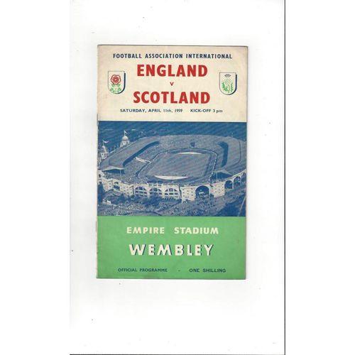 1959 England v Scotland Football Programme