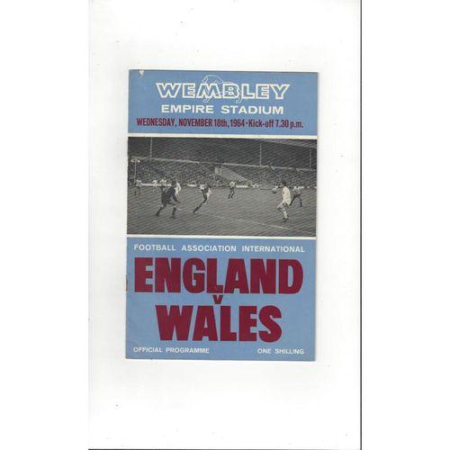1964 England v Wales Football Programme