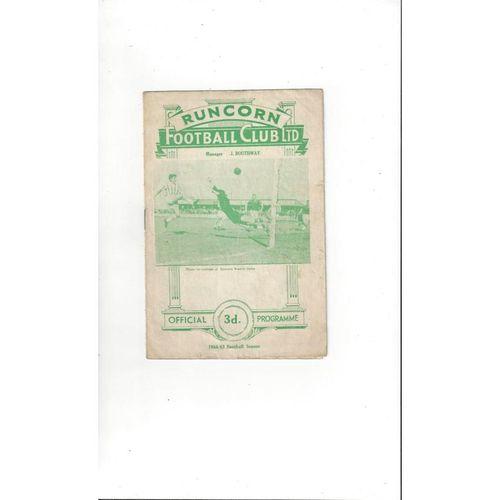 1966/67 Runcorn v Northwich Victoria Football Programme