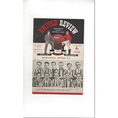 1952 Manchester United v Newcastle United Charity Shield Football Programme Rare