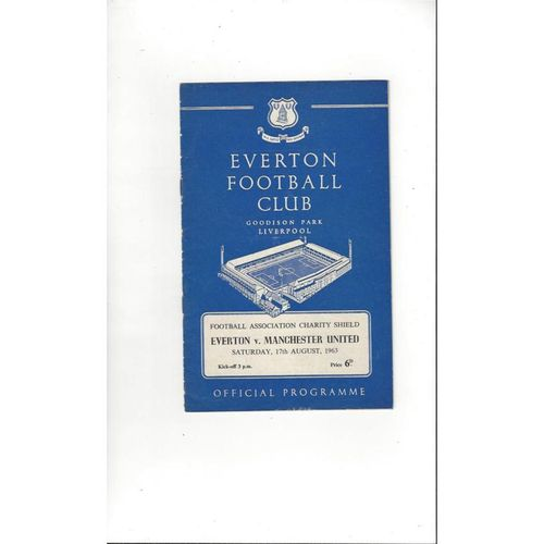 1963 Everton v Manchester United Charity Shield Football Programme