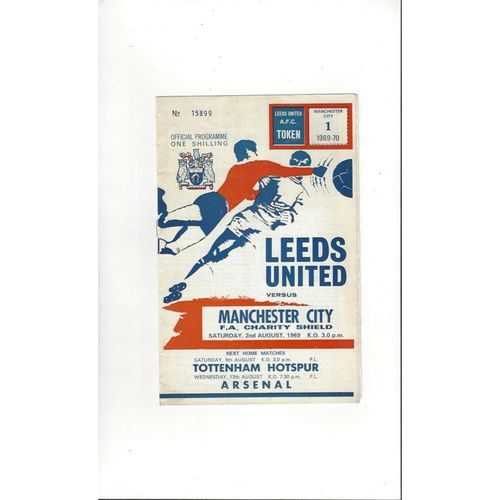 1969 Leeds United v Manchester City Charity Shield Football Programme