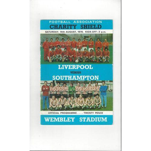 1976 Liverpool v Southampton Charity Shield Football Programme
