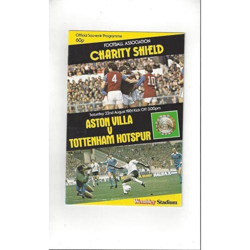 1981 Aston Villa v Tottenham Hotspur Charity Shield Football Programme