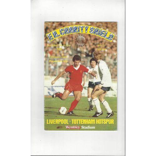 1982 Liverpool v Tottenham Hotspur Charity Shield Football Programme