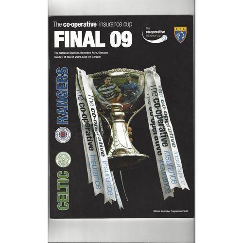 2009 Celtic v Rangers Scottish League Cup Final Football Programme