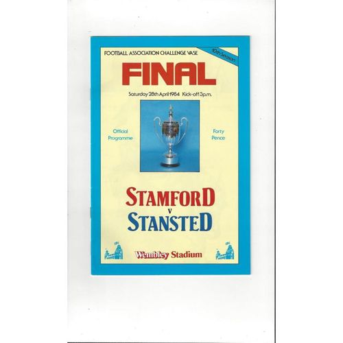 1984 Stanford v Stansted FA Vase Final Football Programme