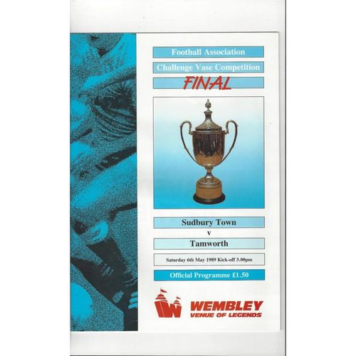 1989 Sudbury Town v Tamworth FA Vase Final Football Programme