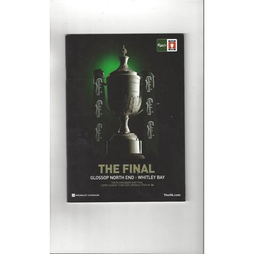 2009 Glossop North End v Whitley Bay FA Vase Final Football Programme