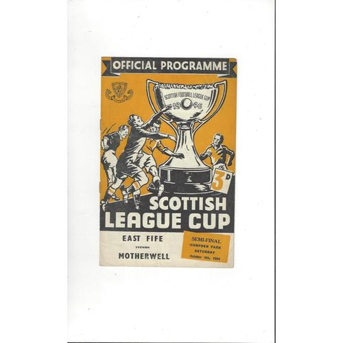 Scottish League Cup Semi Final Football Programmes