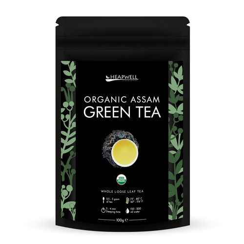 Organic Green Tea Loose Leaf Tea 100g