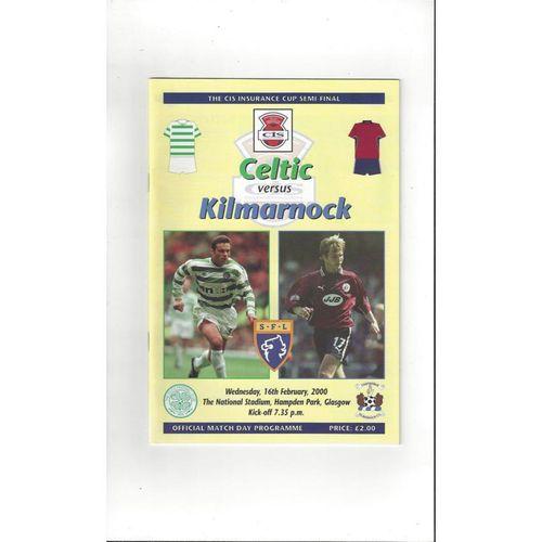 Scottish League Cup Semi Final Football Programmes