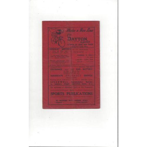 1949/50 Brentford v Plymouth Argyle Football Programme