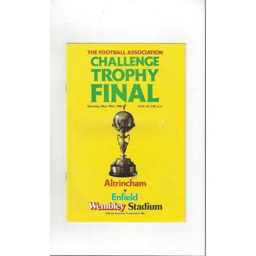 1982 Altrincham v Enfield Trophy Final Football Programme